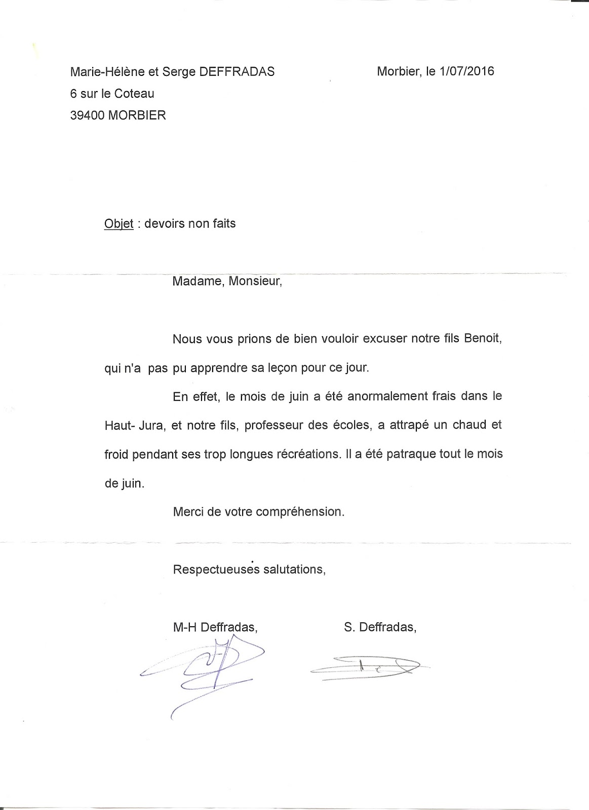 Epub lettre d excuse pour absence - Achat immobilier islam ...