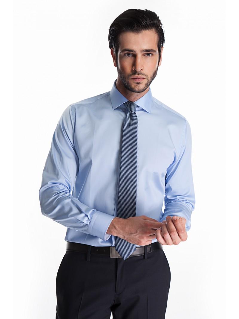 Chemise bleu ciel homme aussi pour l 39 hiver - Chemise costume homme ...